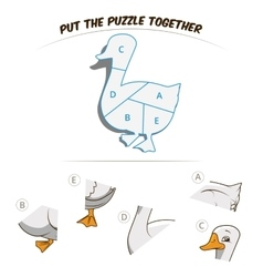 Puzzle game for chldren goose vector