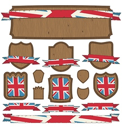 uk plaques and ribbons vector image vector image