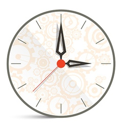 Abstract Clock Isolated on White Background vector image vector image