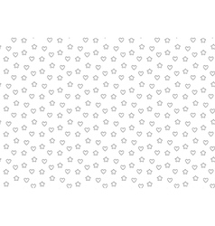 Favorite stars and hearts seamless background vector image vector image