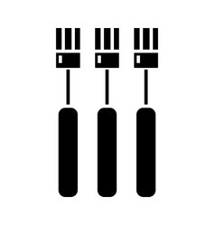 fork icon black sign on vector image