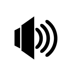 Volume audio isolated flat icon vector image vector image