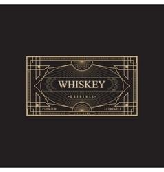antique frame vintage border whiskey label retro vector image