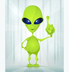 Cute Alien vector image vector image