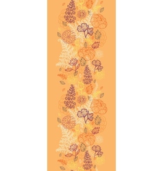 Desert flowers and leaves vertical seamless vector image