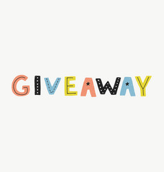 giveaway banner template vector image vector image