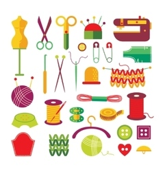 Handmade Colorful Icons Set vector image vector image