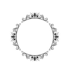 round elegant vintage frame vector image vector image