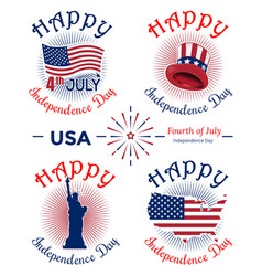 us independence day banner set vector image vector image