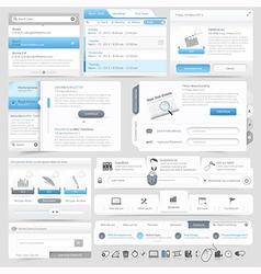Web site design menu navigation vector image