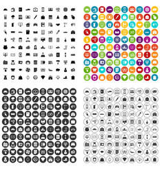 100 credit icons set variant vector