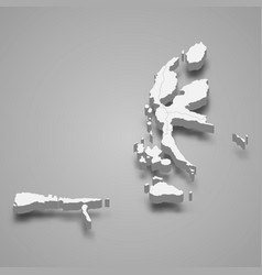 3d isometric map north maluku is a province vector