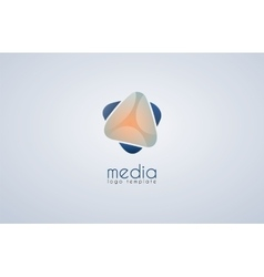 Abstract colored logo Media logo vector image
