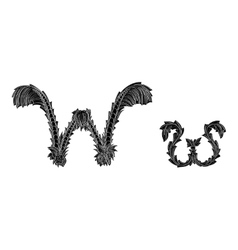 Abstract letter w logo icon black and white design vector