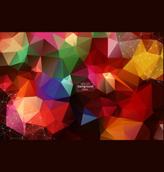 Abstract polygonal dark red low poly background vector