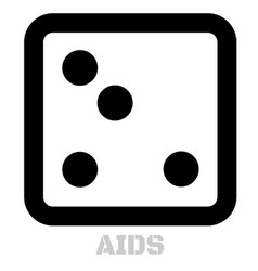 Aids conceptual graphic icon vector