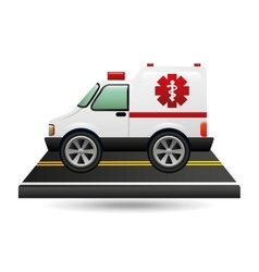 ambulance transportation on road vector image