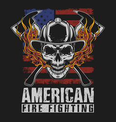 american fire fighter brave vector image