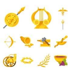 Attributes and greek logo vector