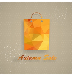 Autumn sale shopping bag vector