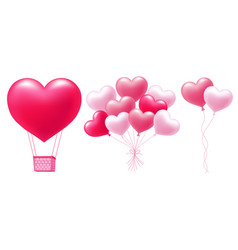 balloons in heart shape vector image