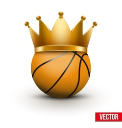Basketball ball with royal crown vector image vector image