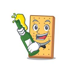 Beer graham cookies mascot cartoon vector