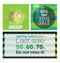 Big sale banners ribbon vector