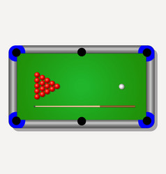 Billiard table vector