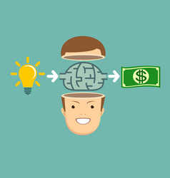 Brainstorm concept - idea to make money vector