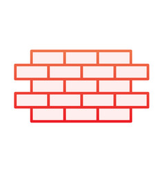 Brick wall flat icon bricks red icons in trendy vector