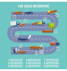 Car crash infographics vector