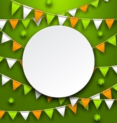 Clean Card with Party Bunting Pennants and Clovers vector