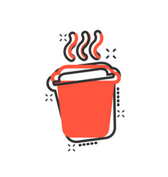 coffee tea cup icon in comic style coffee mug vector image