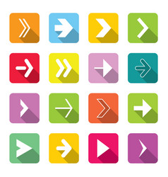 Colorful arrow icons set vector