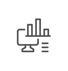 computer analytics line icon vector image