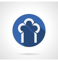 Construction of arches blue round icon vector