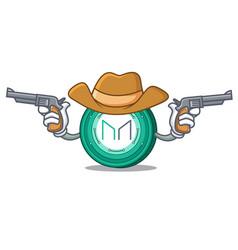 Cowboy maker coin character cartoon vector