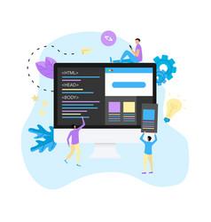 Creative webpage development concept vector