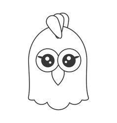 cute chicken cartoon icon vector image