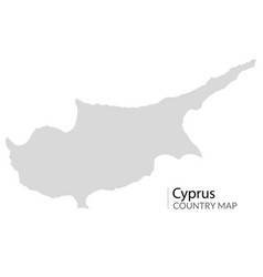 Cyprus map shape icon cyprus europe vector