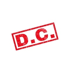 DC Rubber Stamp vector
