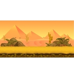 Desert Game Background vector
