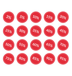discount price off tags set sale labels vector image