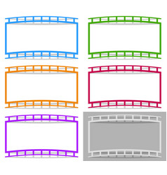 film strip shape elements with distortion for vector image