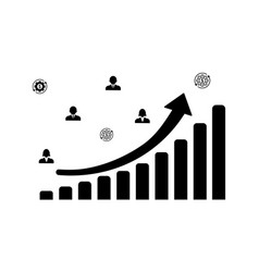 finance progress or growth graph or diagram vector image