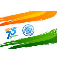Flag india on white background brush strokes vector