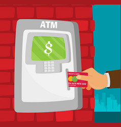 flat atm in the city vector image