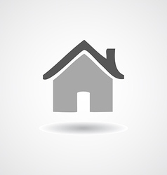 Flat icon Home on shadow isolated vector image