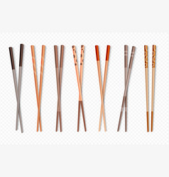 food chopsticks asian bamboo sushi sticks for vector image